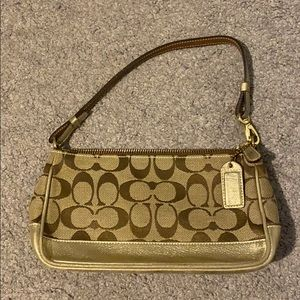 Small Coach Handbag with gold details